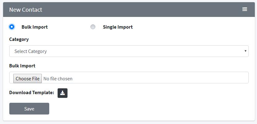 bulk import