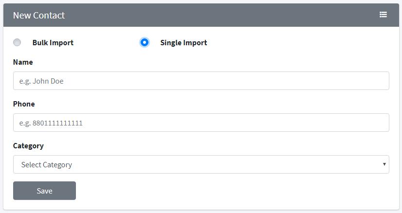 single import